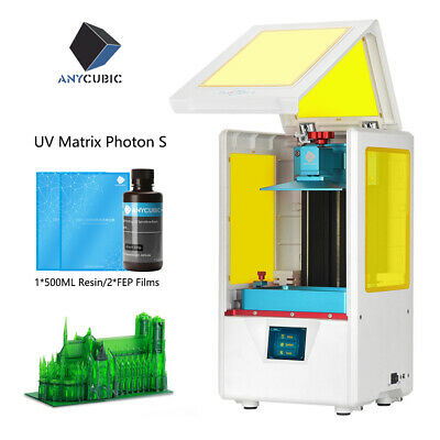 ANYCUBIC LCD Photon S 3D Printer UV Matrix light Cure Resin FEP film Dual Z-axis