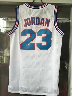 Michael Jordan #23 Space Jam Tune Squad Basketball Jersey Stitched White Black