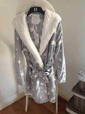 Debenhams Womens cosy lounge and sleep Dressing Gown with hood Size 12-14 £30.00