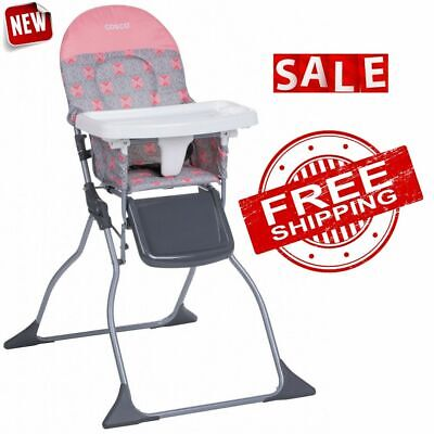 CHAIR BABY HIGH SEAT Full Size Tray Adjustable Children Kids Toddler Feeding New
