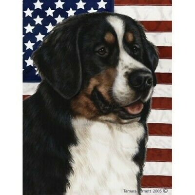 Patriotic (D2) House Flag - Bernese Mountain Dog 320581