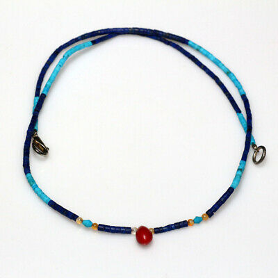 Stunning Egyptian & Roman Stone Beads Necklace Circa 300-100 Bc