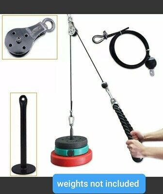 Lat Pull Down Home Workout Cable Pulley Multi Gym Equipment Hanging Strap Mount