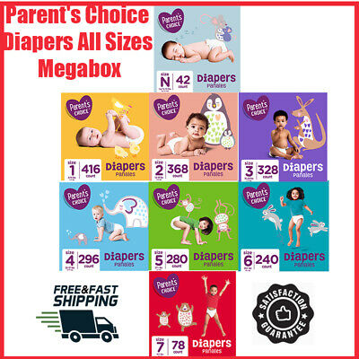 Parent's Choice Diapers All Sizes Hypoallergenic Absorbent Latex Free Baby Soft