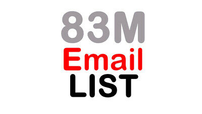 83 Million Email Database List for Business Marketing 2020