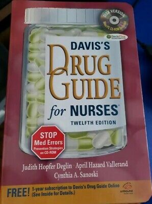 Davis's Drug Guide for Nurses 12th Edition CD not included -Free Shipping!