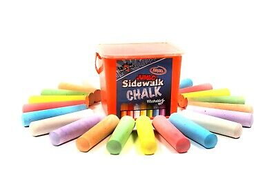 Pack Of 12 Giant Chalks Artbox Pavement Games Child Creative Fun Crosses Outdoor