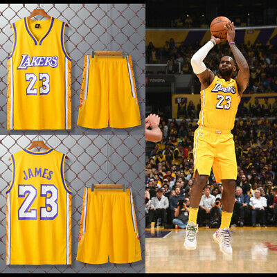 City Edition Los Angeles Lakers #23 LeBron James Jersey Adult Youth Child Shorts