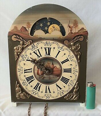 Dutch Warmink Clock Dial Hand Painted Moon Phase With Complete Movement Friese