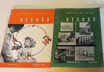 JAN FEB 1948 ARCHITECTURAL RECORD Hospitals APART Bernard MAYBECK Hearst Hall