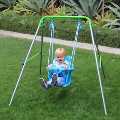 Indoor Outdoor Toddler Swing Set Fun Play Baby Toy Foldable Child Kids Rocker
