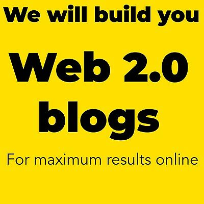 We Will Build You 30 Web 2.0 Blogs