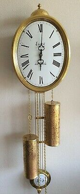 Comtoise Style Clock By Pendules Dutch Made 8 Day Hermle Bell Strike Vintage 70s