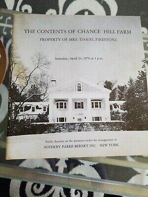 1976 Sotheby's Antique Pottery Furniture Chance Hill Farm Silver rug frame
