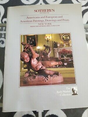 1988 Sotheby's Andy Warhol Art Antique Furniture Catalog American