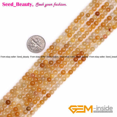 """2mm 3mm 4mm Round Jade Seed Loose Spacer Beads For Jewelry Making Strand 15"""" DIY"""