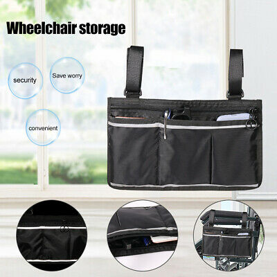 Wheelchair Side Bag Multifunctional Armrest Pouch Organizer Bag Phone Pockets