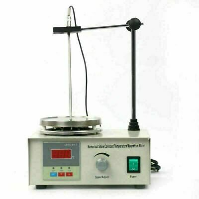 Top 85-2 Magnetic Stirrer With Heating Plate Hotplate Mixer Digital Display