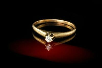 Antique  Victorian Diamond 10K Yellow Gold Ring A033699