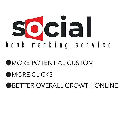 Social Media Book Marking For Your Business, Products, Blog, Youtube.........