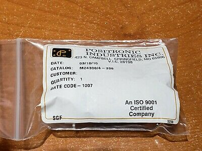 NEW Positronic M24308/4-338 Mil-Spec D-Sub Connector w/ M39029/64-369 Gold Pins