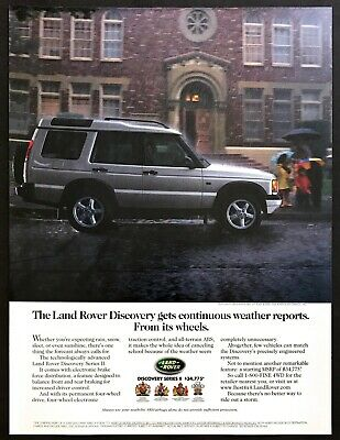 """2001 Land Rover Discovery Series II SUV """"Ride Out the Storm"""" vintage print ad"""