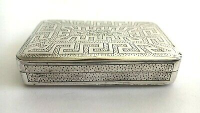 1802 George 3 Sterling Silver Snuff Box by Thomas Willmore