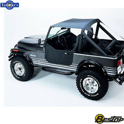 Bestop 81035-09 Charcoal All Weather Trail Cover for 1976-1991 CJ7 and Wrangler YJ