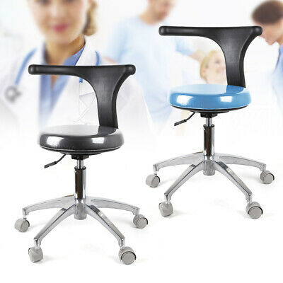 Dental Assistant Stool Medical Chair PU Leather Height Adjustable 360° Rotation