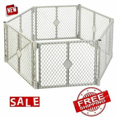 PANEL PLAYPEN BABY KIDS Toddler Safety Play Yard Crib Fence Pet Dog Cat Cage New