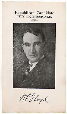 William P. Floyd, Republican Candidate, City Commissioner poster -Huntington, WV