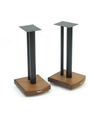 Atacama Moseco 6 (600mm) Speaker Stands - Dark Bamboo with Black Supports