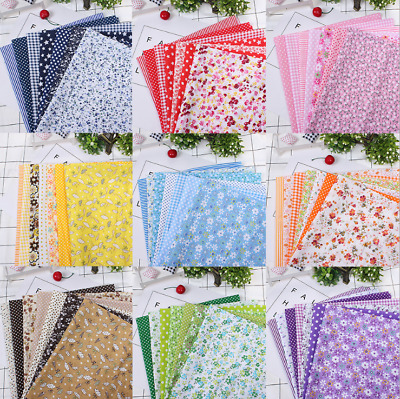 7Pcs 50*50cm Mixed Pattern Cotton Fabric DIY Sewing Quilting Patchwork Crafts