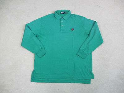 VINTAGE Ralph Lauren Polo Shirt Adult Extra Large Green Blue Golf Rugby Mens