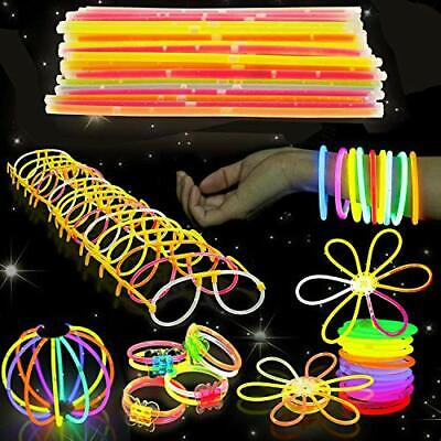 543 Pack - 250 Glow Sticks, Bastoncini Luminosi Fluorescenti, 293 Connettori -