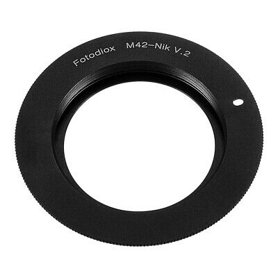 Fotodiox Lens Adapter for M42 Type 2 lens to Nikon F-Mount Cameras [M42-NikF-V2]