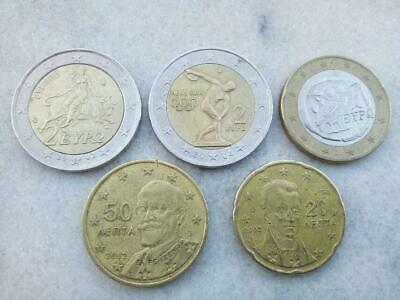 E Directly from Bank Mintmarks F 45 UNC Coins GREECE 2002 EURO STARTER KIT S