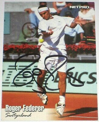 Roger Federer Signed 2003 Netpro International Series Rookie Card Autograph Auto