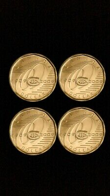 2009 Canada Montreal Canadiens Centennial Special Wrap Loonie Roll $1 coin