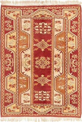 "Hand-knotted Turkish 5'0"" x 6'9"" Ushak Wool Rug...DISCOUNTED!"