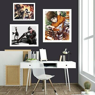 Details about  /3D Attack On Titan 354RAID Anime Combine Wall Sticker Wall Murals Wallpaper Amy