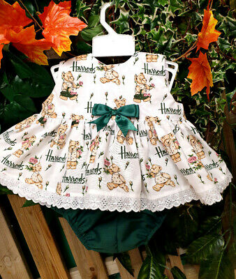 Dream 0-5 Years Baby Girls Harrods  Bears Roses Summer  Top And Knickers  Set