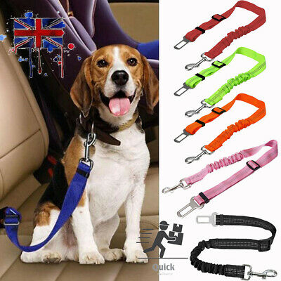 Anti Shock Dog Car Seat Belt Clip Bungee Lead Vehicle Travel Pet Safety Harness