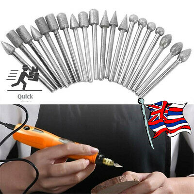 20Pcs Steel Solid Carbide Burrs For Dremel Rotary Tool Bit Accessories Tools
