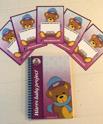 Warm Baby Project A5 Notebook +  5 FREE note cards! NICU, charity, Facebook Page