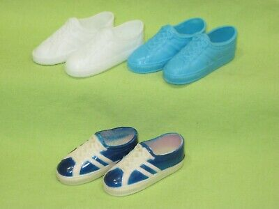 Vintage BARBIE Doll 1970's Best Buy KEN SNEAKERS Blue & White 3 PAIRS of SHOES