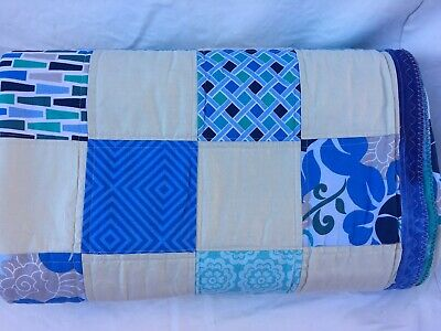 Nautical/ Beach / Ocean Colours Patchwork Handmade Quilt