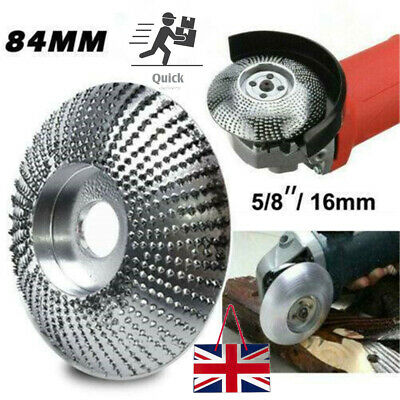 Carbide Wood Sanding Carving Shaping Disc 84mm For Angle Grinder Grinding Wheel