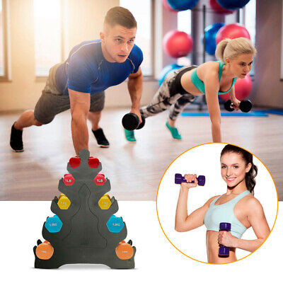 Hot 3/5 Tier Tree Rack Hand Dumbbell Holder Home Gym Exercise Weight Tower Stand