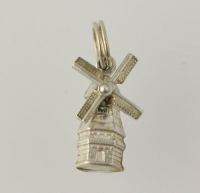 Windmill Charm - Stainless Steel Women's Polished Moves Detail Fine Tested